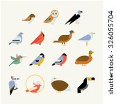 vector bird icon collection....