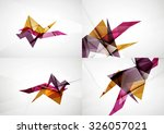 set of angle and straight lines ... | Shutterstock . vector #326057021
