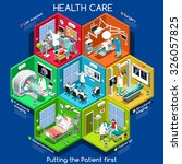 hospital 3d clinic infographic... | Shutterstock . vector #326057825
