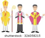 catholic priest   Shutterstock .eps vector #326058215