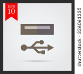 icon of usb sign and port | Shutterstock .eps vector #326061335