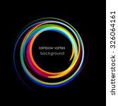vector rainbow vortex on black... | Shutterstock .eps vector #326064161