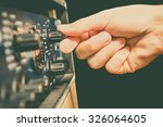 right hand tuning knobs of... | Shutterstock . vector #326064605