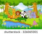 cute safari animal in the jungle | Shutterstock . vector #326065301