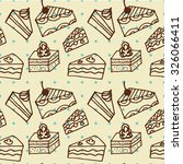 seamless pattern with cakes... | Shutterstock .eps vector #326066411