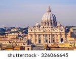 St Peter's Basilica In Vatican...