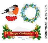 christmas decoration set.  | Shutterstock .eps vector #326071271