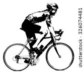 silhouette of a cyclist male. ... | Shutterstock .eps vector #326074481