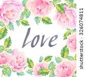 invitation card for wedding... | Shutterstock . vector #326074811