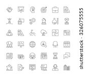Thin line icons set. Flat symbols about business | Shutterstock vector #326075555