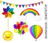 kids set with gradient mesh ... | Shutterstock .eps vector #326076719