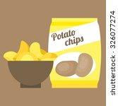 Vector Potato Chips Flat Design