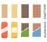 vector chocolate and wafer icon ... | Shutterstock .eps vector #326077499