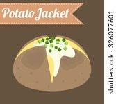 vector potato jacket  flat...   Shutterstock .eps vector #326077601