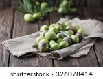 Raw Olive For Making Oil On Th...