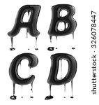 letter a b c d. oil alphabet... | Shutterstock . vector #326078447