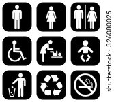 people icon set . toilet icons .... | Shutterstock .eps vector #326080025