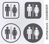 male and female toilet sign set ... | Shutterstock .eps vector #326080409