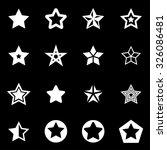 vector white stars icon set.    Shutterstock .eps vector #326086481
