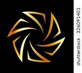 golden aperture | Shutterstock .eps vector #326091401