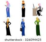 vector illustration of a six... | Shutterstock .eps vector #326094425