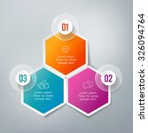 three steps infographics   can... | Shutterstock .eps vector #326094764