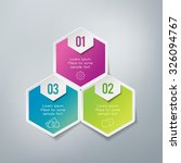 three steps infographics   can... | Shutterstock .eps vector #326094767