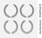 icon laurel wreath   vector... | Shutterstock .eps vector #326096615