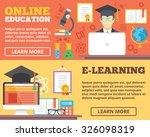 online education  e learning... | Shutterstock . vector #326098319