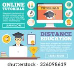 online tutorials  distance... | Shutterstock . vector #326098619