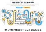 flat line design vector... | Shutterstock .eps vector #326103311