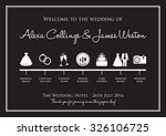 wedding timeline background | Shutterstock .eps vector #326106725