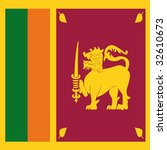 cube flag of sri lanka | Shutterstock . vector #32610673