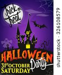 halloween party poster ... | Shutterstock .eps vector #326108579