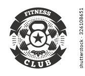 fitness club logo template with ... | Shutterstock .eps vector #326108651