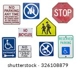 set of english traffic signs... | Shutterstock . vector #326108879