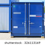 Blue Cargo Container Ready For...