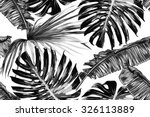 tropical palm leaves  jungle... | Shutterstock .eps vector #326113889