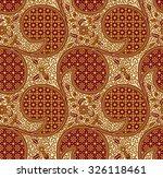 seamless javanese batik pattern.... | Shutterstock . vector #326118461