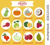 collection of fruits version... | Shutterstock .eps vector #326121101