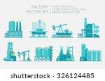 extraction petroleum. vector... | Shutterstock .eps vector #326124485