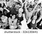 group celebration cheerful... | Shutterstock . vector #326130641