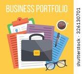 business portfolio flat... | Shutterstock . vector #326130701