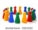 group of game figurines in a... | Shutterstock . vector #3261322