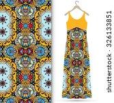 vector fashion illustration ... | Shutterstock .eps vector #326133851