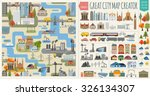 great city map element creator. ... | Shutterstock .eps vector #326134307