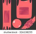 bubble gum banners set | Shutterstock .eps vector #326138255