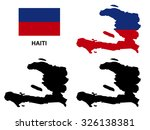 Haiti Map Vector  Haiti Flag...