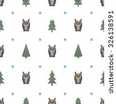 winter pattern   varied xmas... | Shutterstock .eps vector #326138591