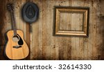 Cowboy Hat  Guitar And Empty...